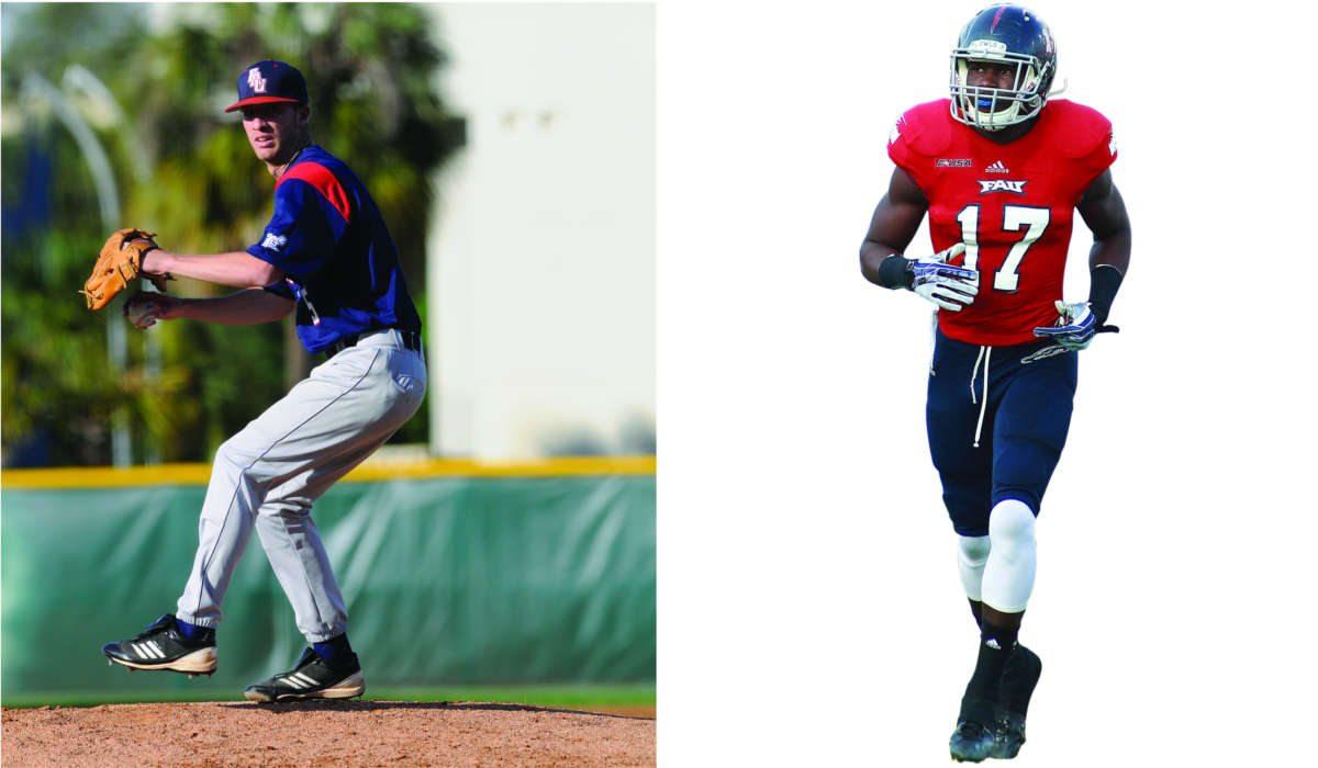 FAU Football player and Baseball player