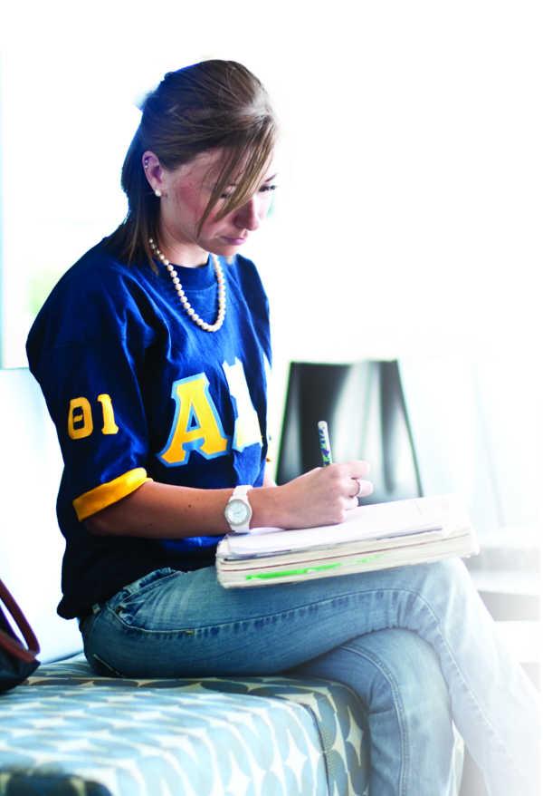 FAU Student Doing Homework
